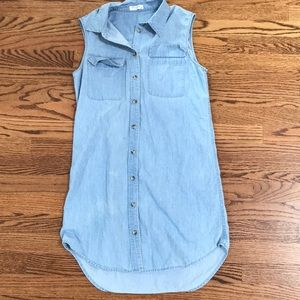 Equipment sleeveless Denim Dress